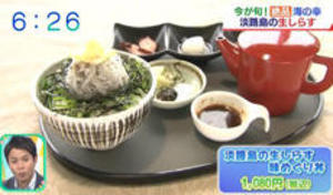 朝日放送 | おはようコールABC | 淡路島の生しらす味めぐり丼が紹介されました。